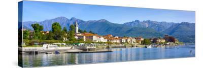 The Idyllic Lakeside Village of Baveno, Lake Maggiore, Piedmont, Italy-Doug Pearson-Stretched Canvas Print