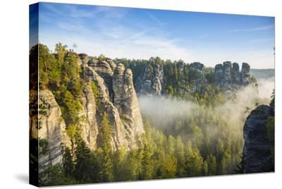 Bastei, Saxon Switzerland National Park, Saxony, Germany-Jon Arnold-Stretched Canvas Print