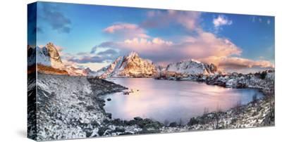 Reine, Lofoten Islands, Norway; Panoramic Photo of Reine-ClickAlps-Stretched Canvas Print