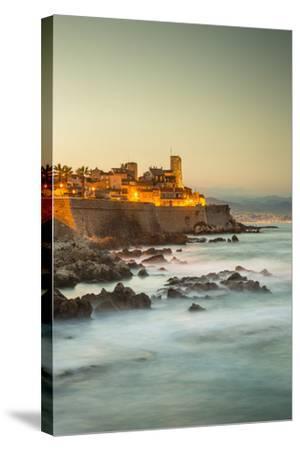 Old Town and Sea Wall in Antibes, Alpes-Maritimes, Provence-Alpes-Cote D'Azur-Jon Arnold-Stretched Canvas Print