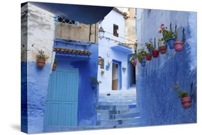 North Africa, Morocco, Chefchaouen District.Details of the City-ClickAlps-Stretched Canvas Print