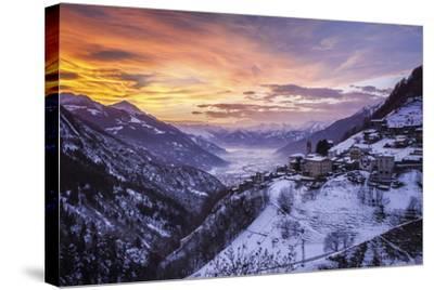 Valtellina, Campo Tartano Village, Lombardy, Italy-ClickAlps-Stretched Canvas Print