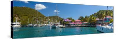 Caribbean, British Virgin Islands, Tortola, Sopers Hole-Alan Copson-Stretched Canvas Print
