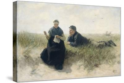 Boy and Girl in the Dunes-David Adolph Constant Artz-Stretched Canvas Print