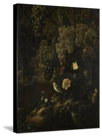 Grapes, Flowers and Animals-Isac Vromans-Stretched Canvas Print