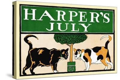 Harper's July-Edward Penfield-Stretched Canvas Print