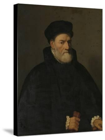 Portrait of an Old Man, Probably Vercellino Olivazzi, Senator from Bergamo-Giambattista Moroni-Stretched Canvas Print