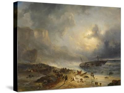 Shipwreck Off a Rocky Coast-Wijnand Nuijen-Stretched Canvas Print