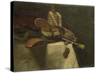 Still Life with Oriental Slippers-August Allebe-Stretched Canvas Print