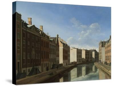Golden Bend in the Herengracht, Amsterdam-Gerrit Adriaensz Berckheyde-Stretched Canvas Print