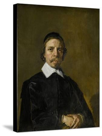 Portrait of a Man, Possibly a Preacher, Frans Hals.-Frans Hals-Stretched Canvas Print