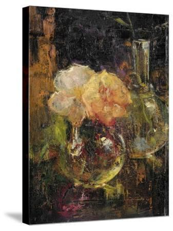 Bouquet of Yellow Roses in a Decanter, Behind a Bottle-Menso Kamerlingh Onnes-Stretched Canvas Print