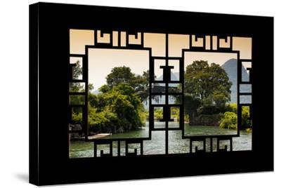 China 10MKm2 Collection - Asian Window - Guilin Yangshuo Bridge-Philippe Hugonnard-Stretched Canvas Print