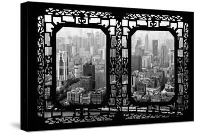 China 10MKm2 Collection - Asian Window - Shanghai View-Philippe Hugonnard-Stretched Canvas Print