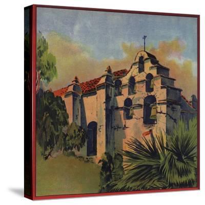 Mission Church Ruins - Citrus Crate Label-Lantern Press-Stretched Canvas Print