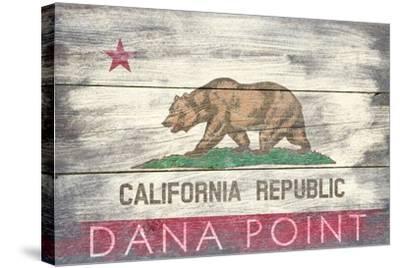 Dana Point, California - Barnwood State Flag-Lantern Press-Stretched Canvas Print