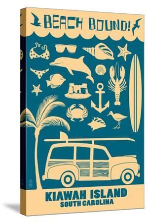 Kiawah Island, South Carolina (#3) - Coastal Icons-Lantern Press-Stretched Canvas Print