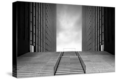 Stairway to Nothing-Oliver Koch-Stretched Canvas Print