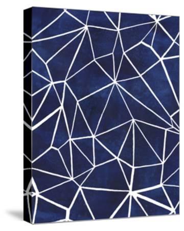 Indigo Pattern III-Grace Popp-Stretched Canvas Print