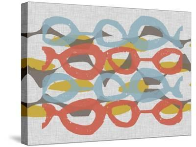 Mid Century Pattern II-Jennifer Goldberger-Stretched Canvas Print