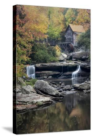 Mill Reflections-Danny Head-Stretched Canvas Print