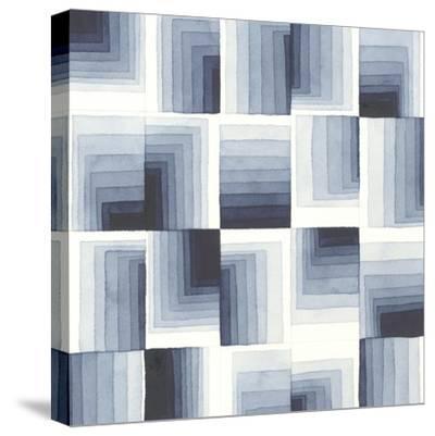 Gradient Indigo I-Nikki Galapon-Stretched Canvas Print