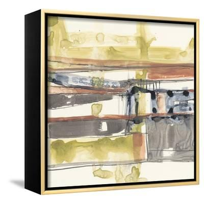 Stepped Abstract II-Jennifer Goldberger-Framed Stretched Canvas Print