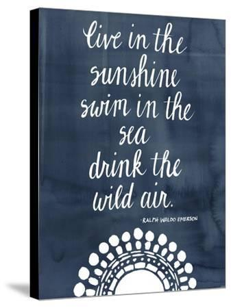 Sun Quote I-Grace Popp-Stretched Canvas Print