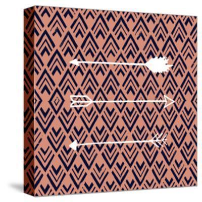 Deco Arrow II-Studio W-Stretched Canvas Print