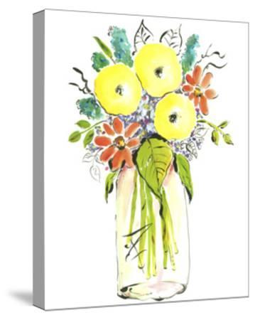 Flower Vase I-Julia Minasian-Stretched Canvas Print