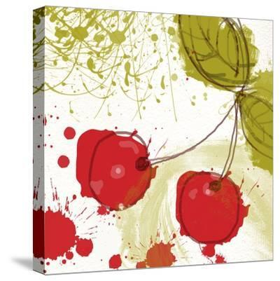 Modern Cherry-Irena Orlov-Stretched Canvas Print