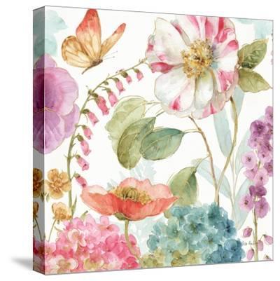 Rainbow Seeds Flowers II-Lisa Audit-Stretched Canvas Print