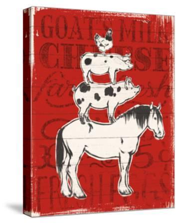 Farmers Market V-Janelle Penner-Stretched Canvas Print