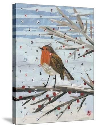 Red, Red Robin-Kirstie Adamson-Stretched Canvas Print