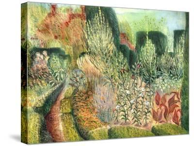 Great Dixter: Topiary and Paths-Mary Kuper-Stretched Canvas Print