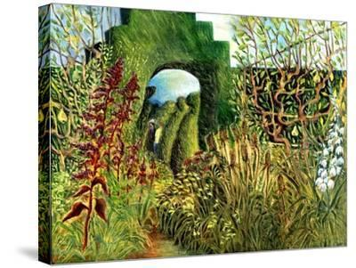 Great Dixter: Topiary and Flowers-Mary Kuper-Stretched Canvas Print
