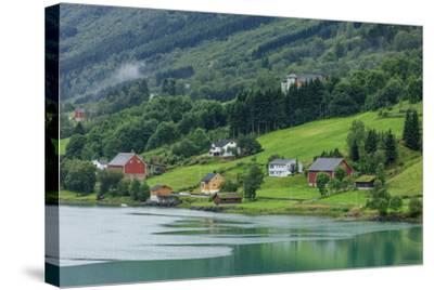 Buildings. Architecture. Olden, Norway-Tom Norring-Stretched Canvas Print