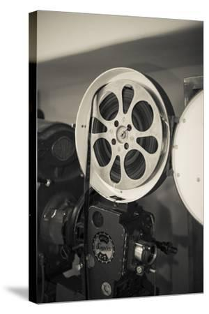 Albuquerque, New Mexico, USA. Central Ave, Route 66 Vintage Film Projector at the Kimo Theater-Julien McRoberts-Stretched Canvas Print