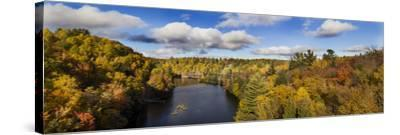 Fall Color Dead River Marquette County in the Upper Peninsula, Michigan-Richard and Susan Day-Stretched Canvas Print