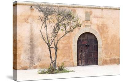 Morocco, Marrakech. Doorway Set into a Beige Way-Emily Wilson-Stretched Canvas Print