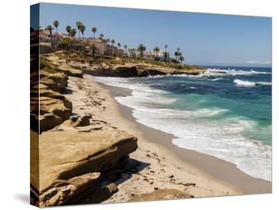 USA, California, La Jolla, Wipeout Beach-Ann Collins-Stretched Canvas Print