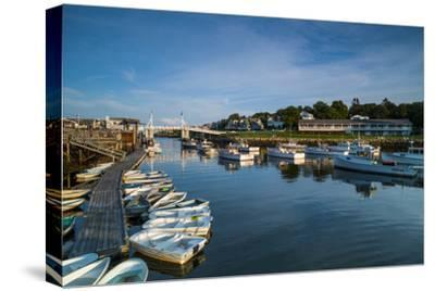 USA, Maine, Ogunquit, Perkins Cove, Boat Harbor-Walter Bibikow-Stretched Canvas Print