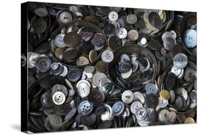Pile of Old Buttons, New York City, New York, USA-Julien McRoberts-Stretched Canvas Print