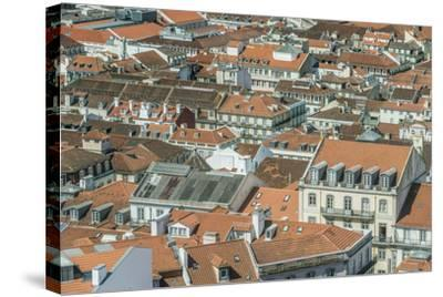 Portugal, Lisbon, Baixa Rooftops from Sao Jorge Castle-Rob Tilley-Stretched Canvas Print