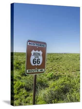 Historic Old Route 66 Passed Through Petrified Forest National Park, Az-Jerry Ginsberg-Stretched Canvas Print
