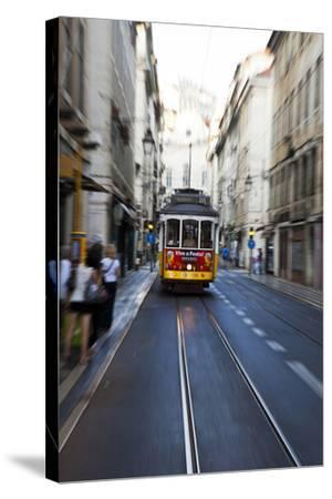Portugal, Lisbon. Famous Old Lisbon Cable Car-Terry Eggers-Stretched Canvas Print