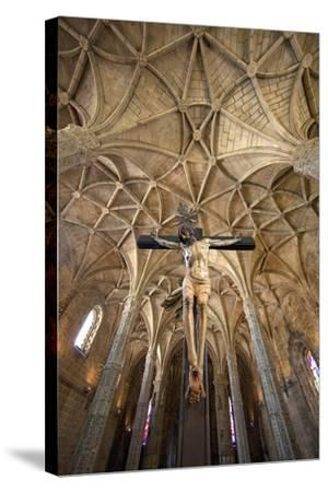 Portugal, Lisbon. Cathedral Inside Jeronimos Monastery-Jaynes Gallery-Stretched Canvas Print