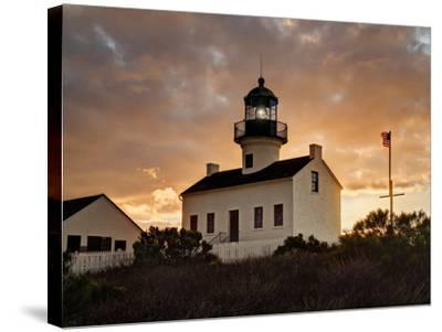 USA, California, San Diego, Old Point Loma Lighthouse at Cabrillo National Monument-Ann Collins-Stretched Canvas Print