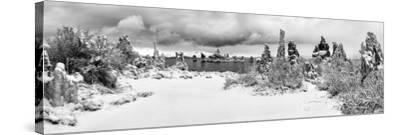 South Tufa Area, Panoramic View of Tufa Formations at Dawn after a Fresh Snowfal-Ann Collins-Stretched Canvas Print
