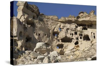 Turkey. Christian Cave Churches and Monasteries in Cappadocia Turkey-Emily Wilson-Stretched Canvas Print